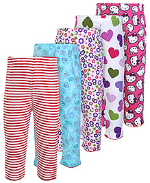 Carters Multi Print And Multi Colour Legging - Set Of 5