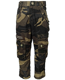 Gini & Jony Military Print Trouser - Knee Pocket