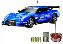 Auldey - Nissan GT R Blue Toy Car