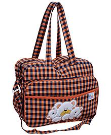 Duck Mother Bag Black And Orange - Checks Print