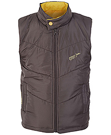 SAPS Sleeveless High Neck Jacket - Side Pockets