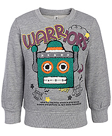 Babyhug Full Sleeves Sweatshirt With Robot Felting Work