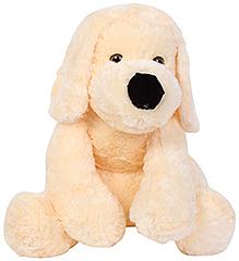Dimpy Stuff Soft Toy Dog - Cream