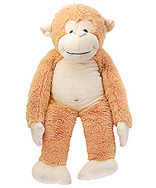 Dimpy Stuff Cuddly Light Brown Monkey With Loose Legs Soft Toy - Height 77 cm