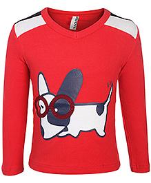 Baobaoshu Full Sleeves T Shirt - Animal Print