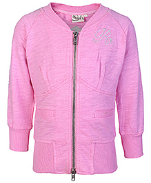 Babyhug Front Open Long Sleeve Jacket - Broad Welt Pocket