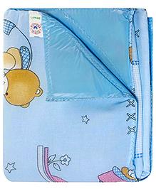 Baby Bed Protector cum Mattress - Blue