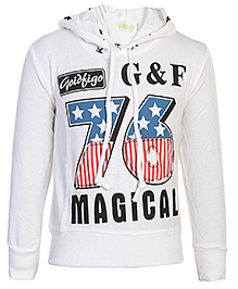 Babyhug Full Sleeves Hooded Sweatshirt - GF 76 Print