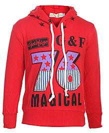 Babyhug Full Sleeves Hooded Sweatshirt - GF 76 Print