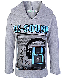 Babyhug Full Sleeves Hooded Sweatshirt - Cool Print