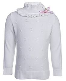 Babyhug Full Sleeves Sweater - Designer High Neck