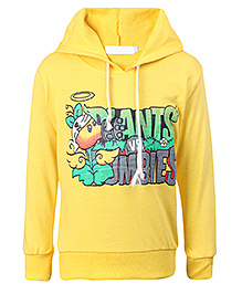 Babyhug Full Sleeves Hooded Sweatshirt - Yellow