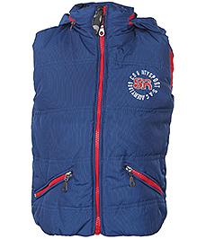 Babyhug Sleeveless Hooded Jacket - High Neck