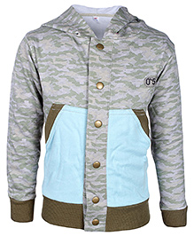 Babyhug Full Sleeves Hooded Jacket - Dual Color