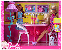 Barbie Glam Dining Room 3 Years+, 4 x 14 x 11.5 inches, A beautiful and colorful Barbie set for...