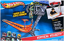 Hotwheels Team Hot Wheels Vertical Velocity Track Set 4 Years+, 7 x 45.7 x 30.5 cm, Thrilling and adventurous track set for...