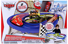 Disney Pixar Cars Stunt Racers Double Decker Speedway