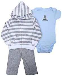 Carters Hooded Cardigan and Legging Set with Onsies