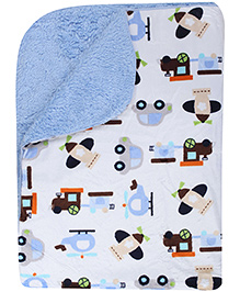Vehicle Print 76 x 102 Cm, Soft comfortable terry blanket for your little one