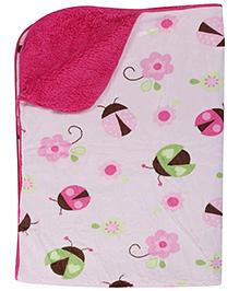 Carters Blanket Pink - Lady Bug Print