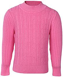 Babyhug Full Sleeves Rib Stitch Sweater