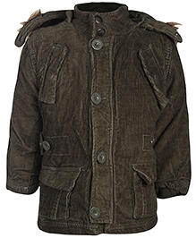 Babyhug Full Sleeves Hooded Jacket