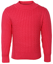 Babyhug Full Sleeves Cable Stitch Sweater - High Neck