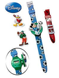 Mickey Mouse And Friends Wrist Watch - Football Print