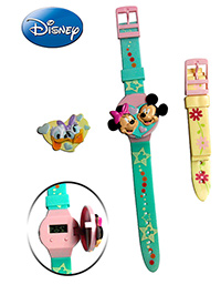 With Interchangeable Strap and Flip Top Covers Officially licensed Disney LCD digital watch with two interchangeable...