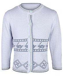 Babyhug Full Sleeves Cardigan - Rabbit Design