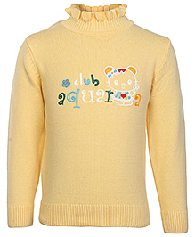 Babyhug Full Sleeves High Neck Sweater - Kitty Print