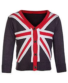 Babyhug Full Sleeves Cardigan - Flag Design