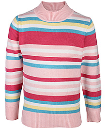 Babyhug Full Sleeves Multi Colour Stripes Design Sweater