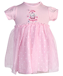 Carters Short Sleeves Frock With Bloomer - Pink