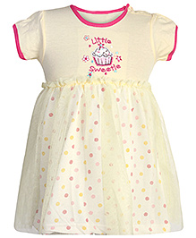 Carters Short Sleeves Frock With Bloomer - Yellow