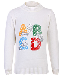 Babyhug Full Sleeves Sweater - Rubber Print