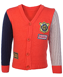 Babyhug Full Sleeves Cardigan With Embroidery