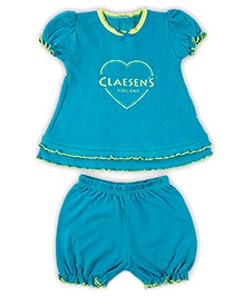Claesens Short Sleeves Top And Bloomer Night Set