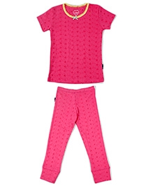 Claesens Short Sleeves Night Suit - Pink