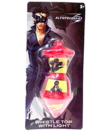 Krrish3 Whistle Top With Light - Red