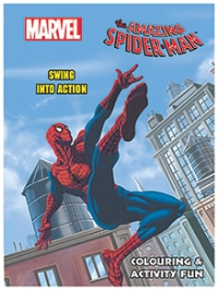 Scholastic Marvel The Amazing Spider Man Swing Into Action Colouring And Activity Fun - English