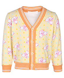 Babyhug Full Sleeves Cardigan - Floral Design