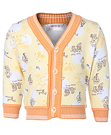 Babyhug Full Sleeves Cardigan - Ship Print