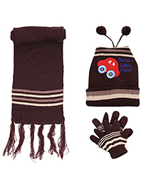 Babyhug Woollen Cap Muffler and Gloves Set