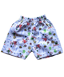 Wow Mom Printed Casual Shorts - White