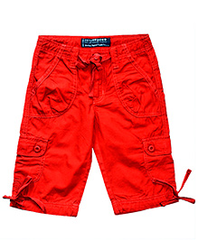 Super Young Red Casual Capri - Multi Pocket