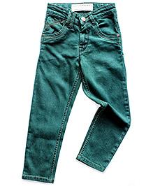 Super Young Fixed Waist Denim Jeans - Green