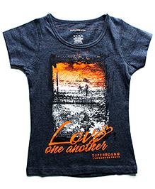 Super Young Half Sleeves Printed T Shirt