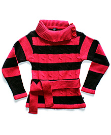 Super Young Full Sleeves High Neck Sweater - Matching Belt