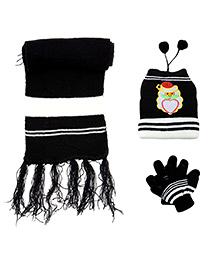Babyhug Santa Face Applique Woolen Winter Set - Pack Of 3